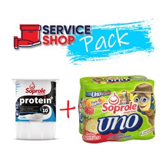 Pack Uno al Dia Multifruta Soprole + Yoghurt Protein Natural 4 X 155 Gr Soprole