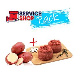 Pack Carne Molida Vac. Especial 1 Kg + Papa Natural Malla 2 kg