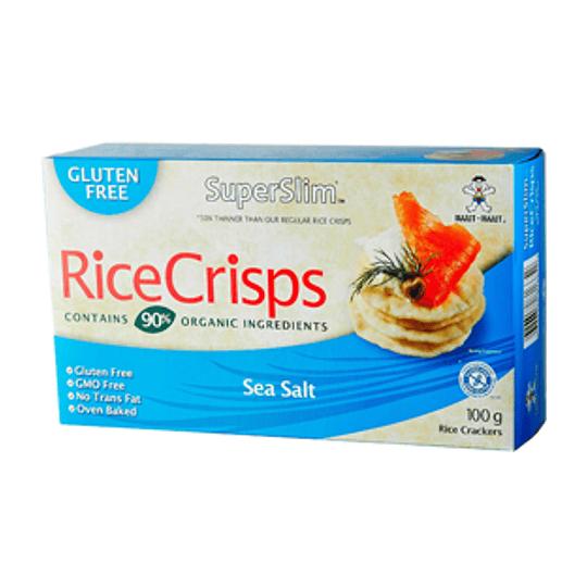 Galleta de Arroz Integral Sal de Mar 100 Gr RiceCrisps
