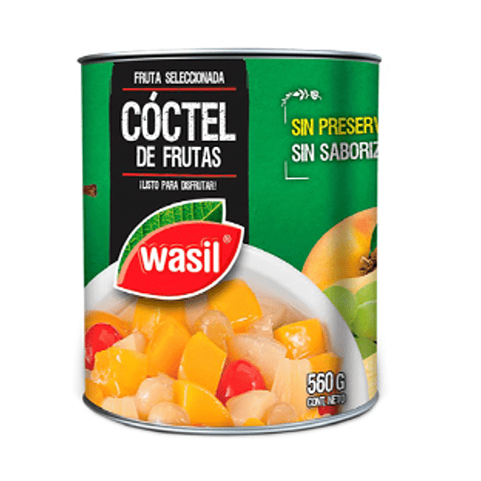 Cocktail Frutas 560 Gr Wasil