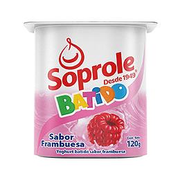 Yoghurt Batido Frambuesa Pack 4 Unidades 120 Gr Soprole