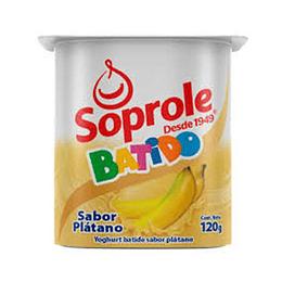 Yoghurt Batido Platano Pack 4 Unidades 120 Gr Soprole
