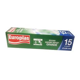 Bolsas Cierre Facil Grande (27X28 Cm) 15 Unid Europlas