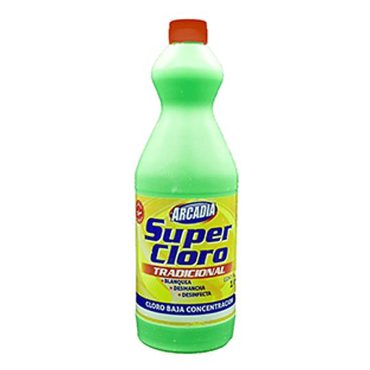Cloro 3% Botella 1 Lt Arcadia