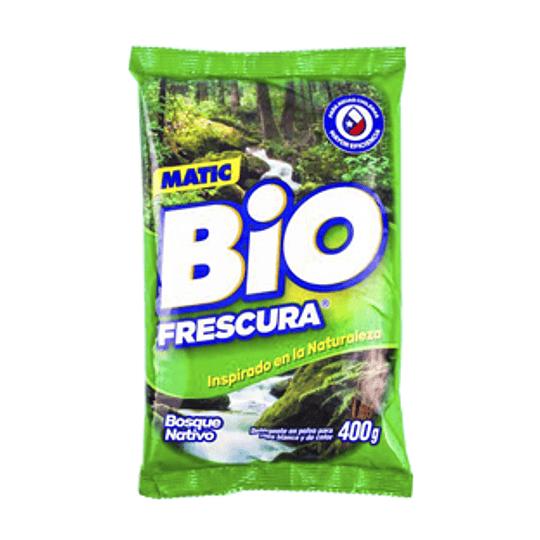 Detergente en Polvo Matic 400 Gr Bio Frescura