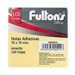 Notas Adhesivas Amarillas (76 X 76 Mm) 100 Hojas
