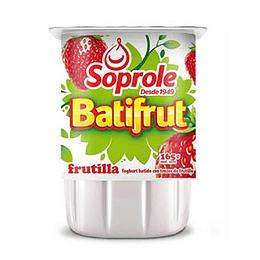 Yogurt Batifrut Frutilla Pack 4 X 165 Gr Soprole