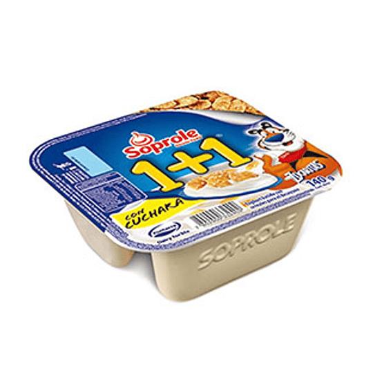 Yogurt 1+1 Zucaritas Con Cuchara 140 Gr Soprole