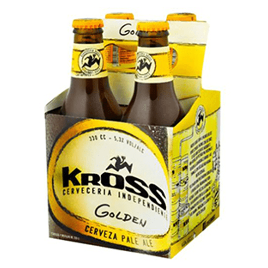 Cerveza Botella Golden Pack 4 X 330 Ml Kross