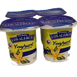 Yoghurt Vainilla 125 Gr Los Alerce PACK 4 UNIDADES