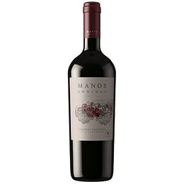 Vino Tinto Cabernet Sauvignon 750 Ml Manos Andinas