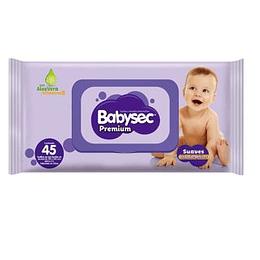 Toalla Humeda Infantil Premium 45 Und Babysec