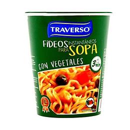 Sopa Instantanea con Fideos Sabor Verduras 65 Gr Traverso