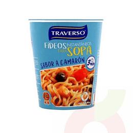 Sopa Instantanea con Fideos Sabor Camaron 65 Gr Traverso