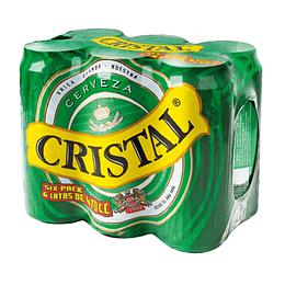 Cerveza Lata Pack 6 X 470 cc Cristal