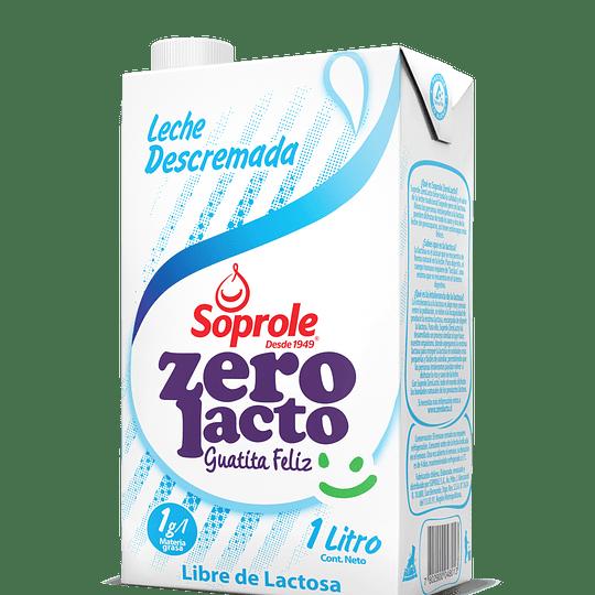 Leche Descremada Sin Lactosa Zero Lacto 1 Lt Soprole