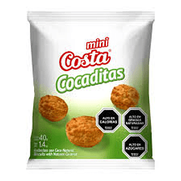 Galleta Mini Cocaditas Caja 30 Unidades 40 Gr Costa