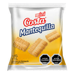 Galleta Mini Mantequilla 40 Gr Costa