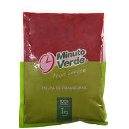 Pulpa De Frambuesa 1 Kg Minuto Verde