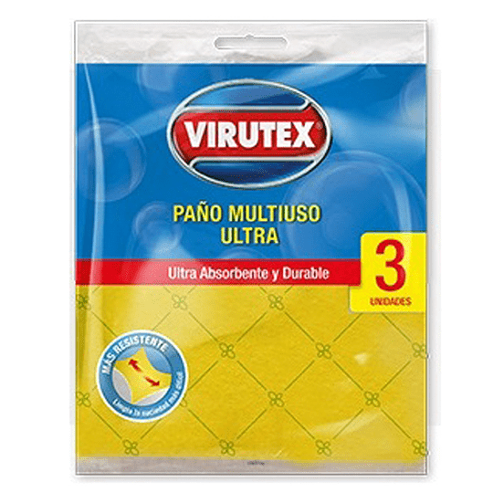Paño Esponja Absorbente 3 Unidades Virutex