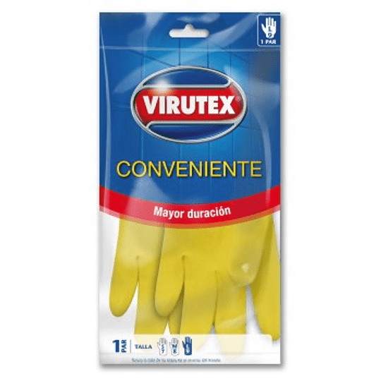 Guante Multiuso Conveniente Latex Talla S Virutex