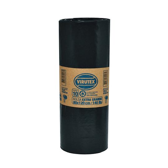 Bolsa De Basura 80 X 120 Rollo 10 Unidades Virutex