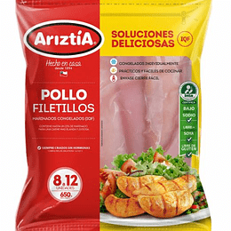 Filetillo de Pollo 650 Gr Ariztia