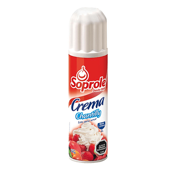 Crema Chantilly Spray 250 Ml Soprole