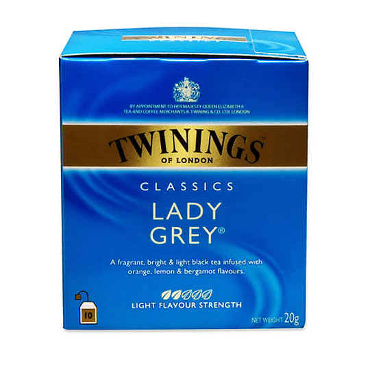 Te Lady Grey 10 Bolsitas Twinings
