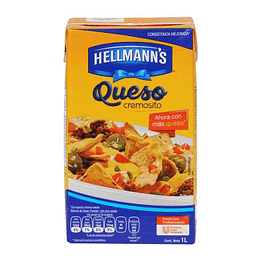 Aderezo Queso Cheddar 1 Lt Hellmanns