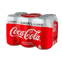Coca Cola Light Lata 350 Ml Pack de 6 Unidades