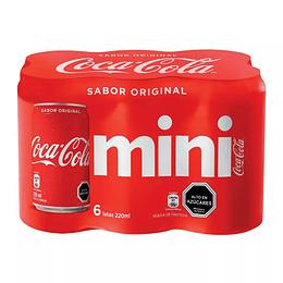Coca Cola Lata 220 Ml Pack 6 Und.