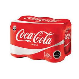 Coca Cola Lata 350 Ml Pack de 6 Unidades