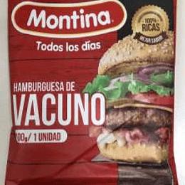 Hamburguesa Vacuno 100 Gr Montina
