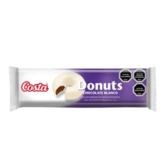 Galleta Donuts Chocolate Blanco Unidad 100 gr Costa