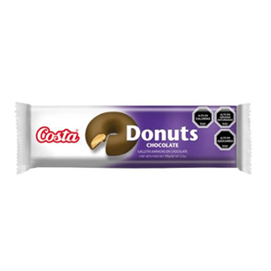 Galleta Donuts Chocolate Unidad 100 Gr Costa