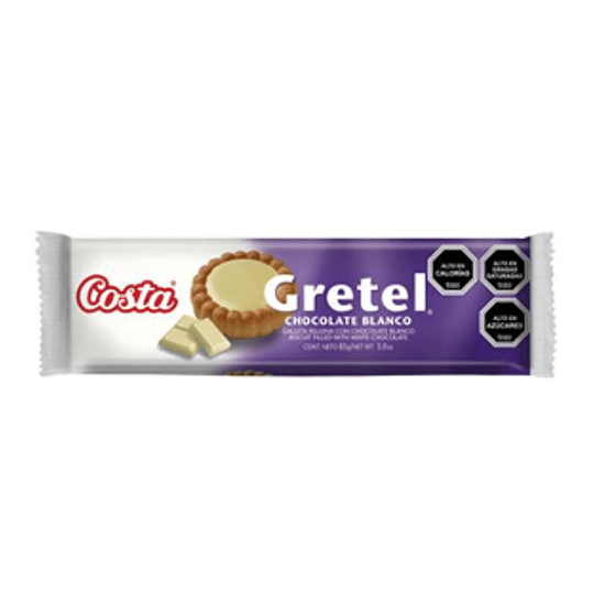 Galleta de Chocolate Blanco Gretel Unidad 85 Gr Costa