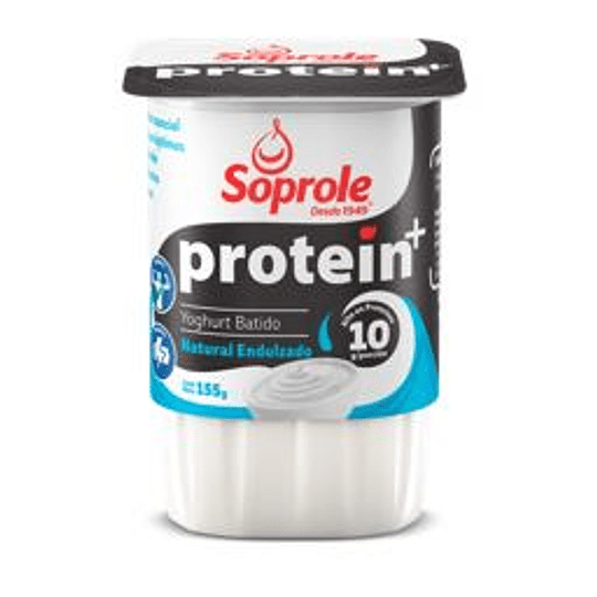 Yoghurt Protein Natural Pack 4 Unidades 155 Gr Soprole