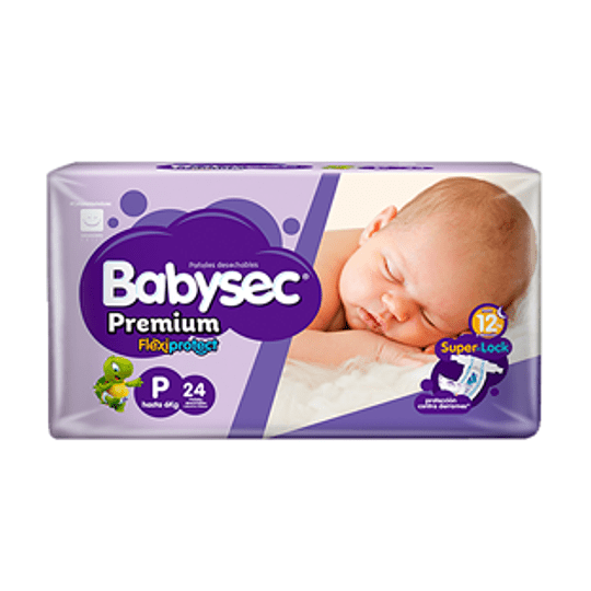 Pañal Bebe Premiun Pequeño 24 Und. Babysec