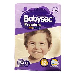 Pañal Niño Premium XXG 56 Und Babysec