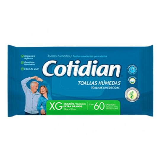 Toalla Humeda Extra Grande 60 Und Cotidian