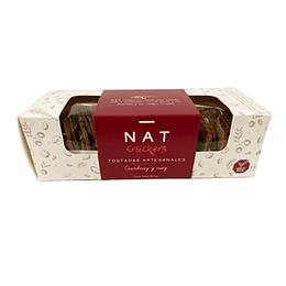 Galleta Artesanal Cranberry y Nuez Unidad 160 Gr Natcrackers