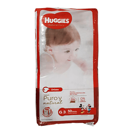Pañal Bebe Natural Care Grande 50 Und. Huggies