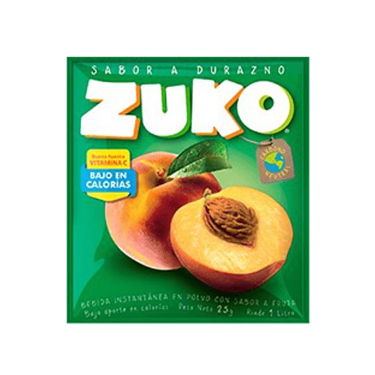 Jugo en Polvo Durazno Sobre de 25 Gr Zuko
