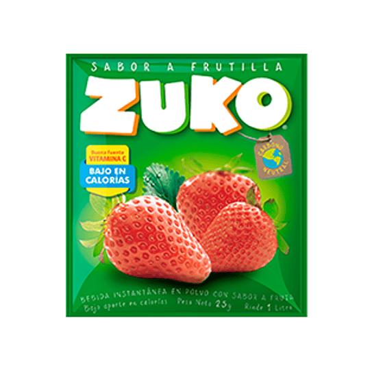 Jugo en Polvo Frutilla Sobre de 25 Gr Zuko