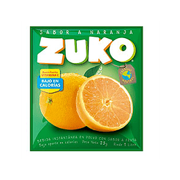 Jugo en Polvo Naranja Sobre de 25 Gr Zuko