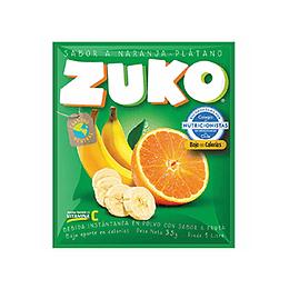 Jugo en Polvo Naranja Platano Sobre de 25 Gr Zuko