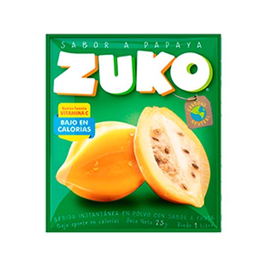 Jugo en Polvo Papaya Sobre de 25 Gr Zuko
