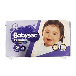 Pañal Niño Premium Grande 36 Und Babysec