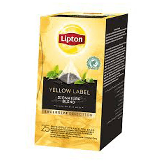 Te Piramide Yellow Label 25 Bols Lipton